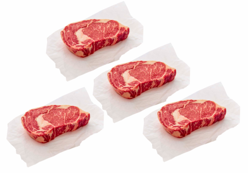 Beef Choice Boneless Ribeye Steak Value Pack (About 4 per Pack) Perspective: front
