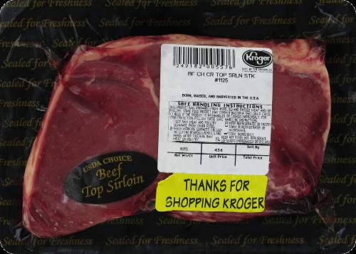 Beef Top Sirloin Steak (Single) Perspective: front
