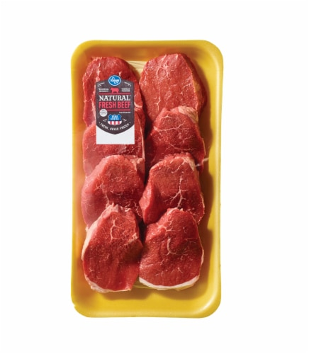 Beef Choice Eye of Round Steak Value Pack (6-8 per Pack) Perspective: front