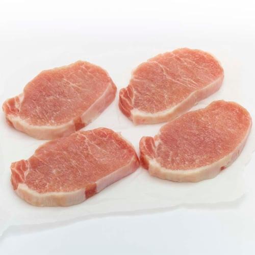 Moist & Tender Boneless Pork Loin Chops (About 3 Chops per Pack) Perspective: front