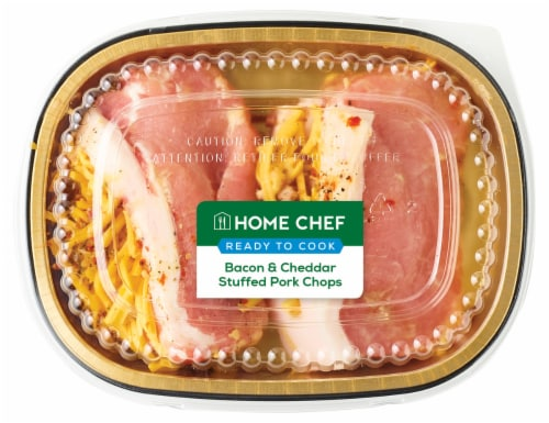 Home Chef Bacon & Cheddar Stuffed Pork Chops Perspective: front