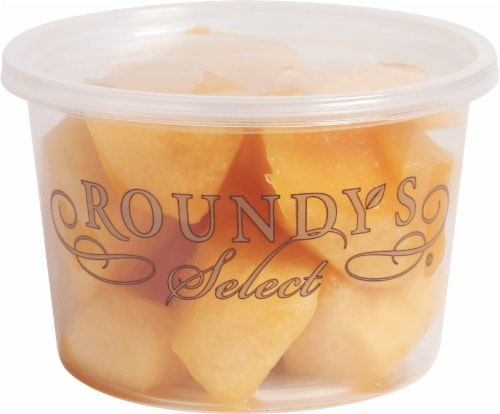 Roundy's Select Cantaloupe Chunks Medium Cup Perspective: front