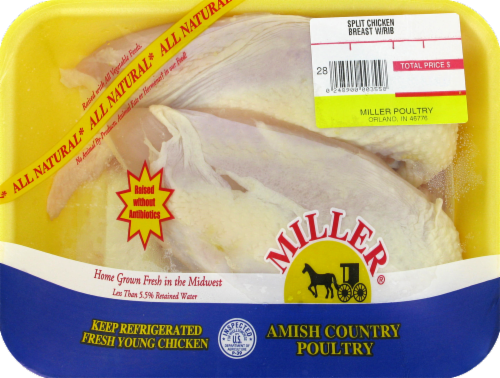 Miller Split Chicken Breast with Rib (2 halves per Pack) Perspective: front