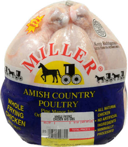 Miller Whole Frying Chicken without Giblets Perspective: front