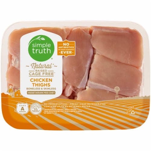 Simple Truth™ Boneless & Skinless Natural Chicken Thighs Perspective: front