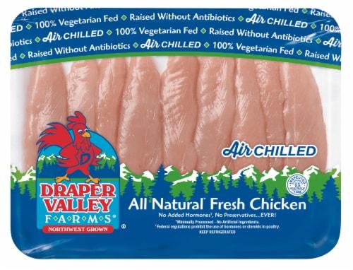 Draper Valley Farms Boneless Skinless Chicken Breast Tenderloins Perspective: front