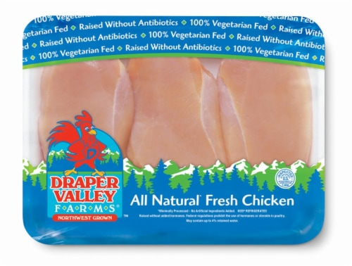 Draper Valley Farms Boneless Skinless Chicken Breasts Perspective: front
