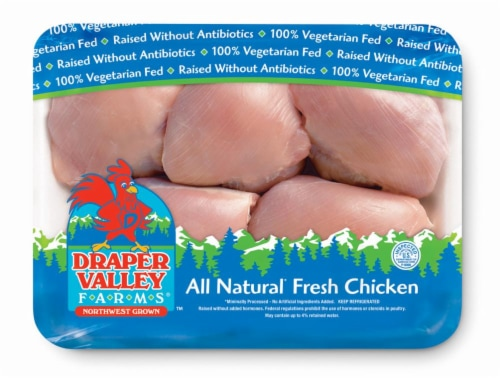 Draper Valley Farms Boneless Skinless Chicken Thighs Perspective: front