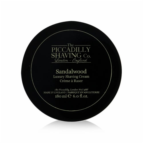 The Piccadilly Shaving Co. Sandalwood Luxury Shaving Cream 180g/6oz Perspective: front