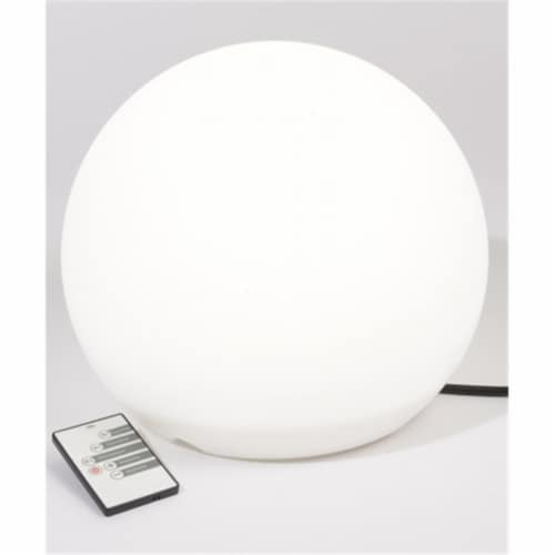Northlight Seasonal 31367408 11.75 in. Lighted Color Changing Outdoor Patio Ball Decoration w Perspective: front