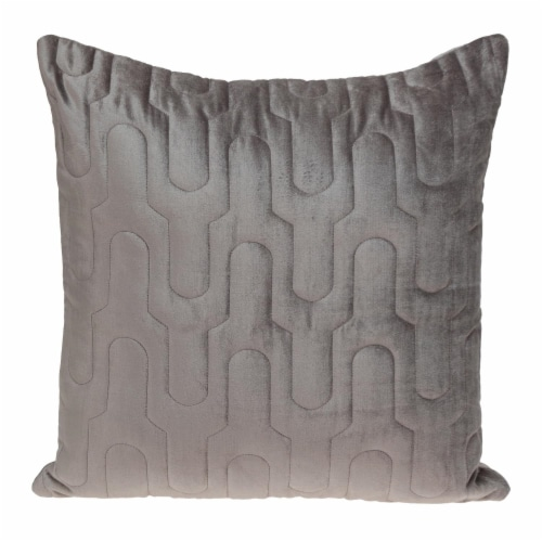 Parkland Collection Basil Transitional Taupe Throw Pillow Perspective: front