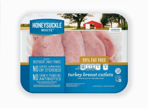 Honeysuckle White Boneless & Skinless Turkey Breast Cutlets (4 per Pack) Perspective: front