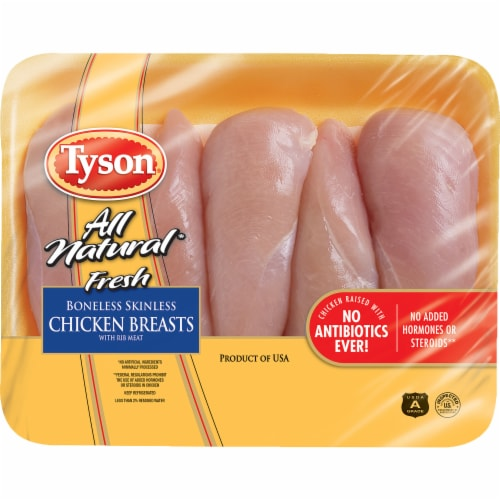 Tyson® All Natural Fresh Boneless Skinless Chicken Breasts Perspective: front