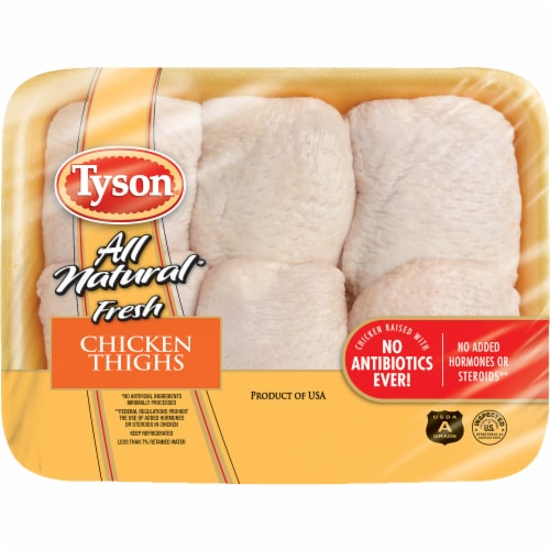 Tyson All Natural Fresh Chicken Thighs Perspective: front