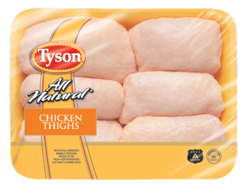 Tyson Chicken Thighs Perspective: front