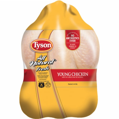 Tyson All Natural Fresh Family Roaster Whole Chicken Perspective: front
