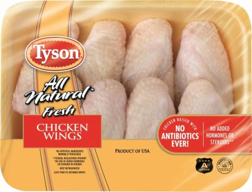 Tyson All Natural Fresh Chicken Wings Perspective: front