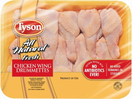 Tyson Chicken Wing Drummettes (9-11 per Pack) Perspective: front