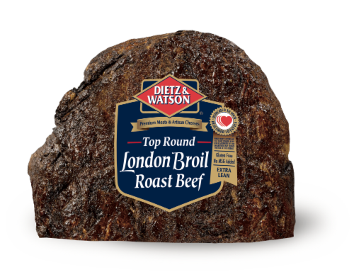 Dietz & Watson Sliced London Broil Roast Beef Perspective: front