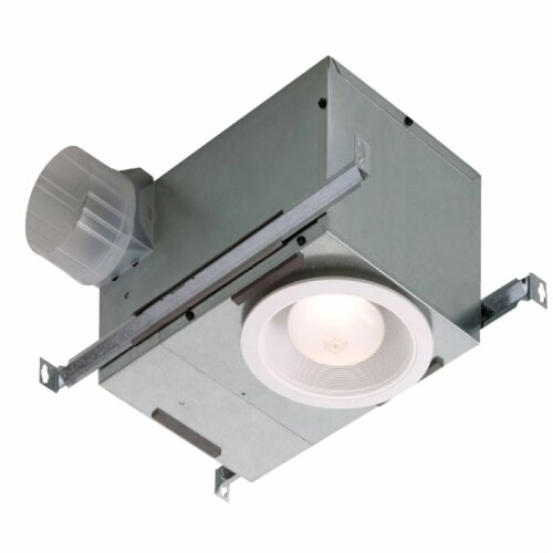 Broan 70 CFM 1.5 Sones 120V Bath Exhaust Fan with Recessed Light 744 Perspective: front