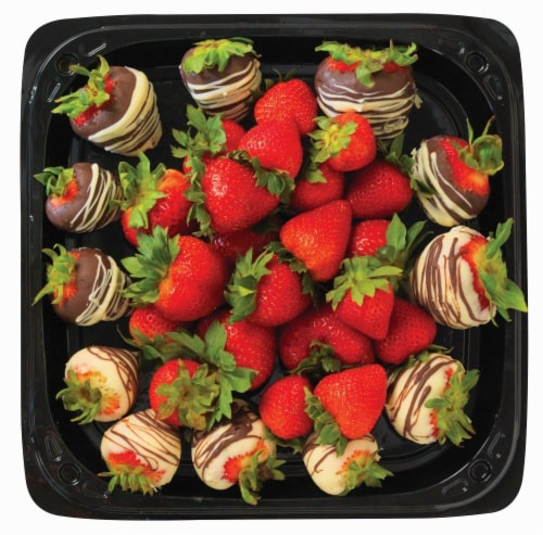 Chocolate Dipped Strawberries Tray Perspective: front