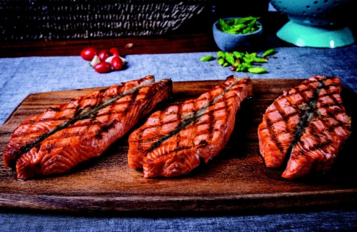 Salmon Coho Fillet (Fresh Wild Caught) Perspective: front