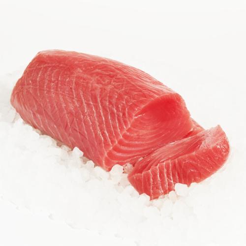Wild Caught Fresh Yellow-fin Tuna Steak Perspective: front