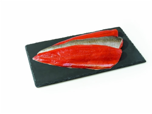 Salmon Sockeye Fillet (Copper River Fresh Wild Caught) (Service Counter) Perspective: front