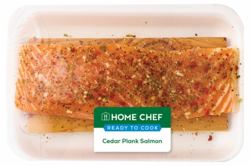 Home Chef Cedar Plank Salmon Perspective: front