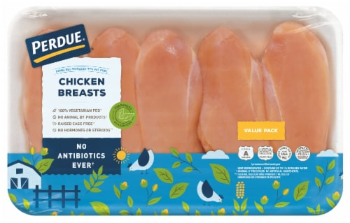 Perdue Chicken Breast Boneless Skinless Value Pack Perspective: front