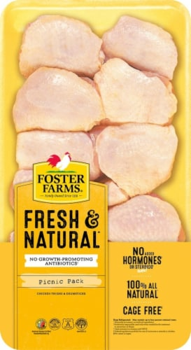 Foster Farms Chicken Thighs & Drumsticks (Picnic Pack) Perspective: front
