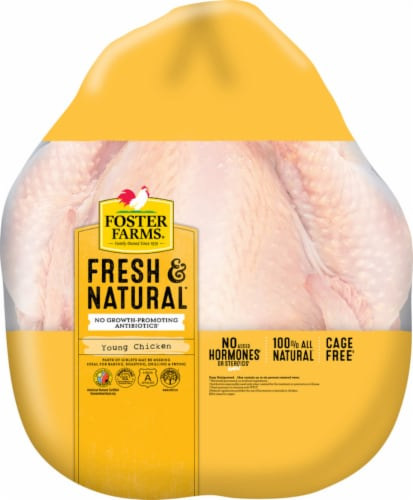 Foster Farms Fresh & Natural Young Chicken (Whole) Perspective: front