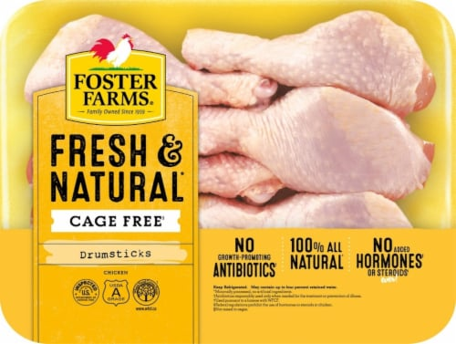 Foster Farms Chicken Drumsticks Perspective: front