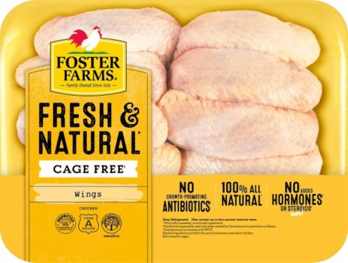 Foster Farms Fresh & Natural Cage Free Chicken Wings Perspective: front