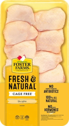 Foster Farms Fresh & Natural Chicken Thighs Perspective: front
