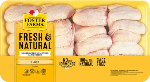 Foster Farms Fresh & Natural Chicken Wings Perspective: front