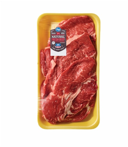 Beef Choice Boneless Chuck Blade Steak Value Pack (About 3-4 Steaks Per Pack) Perspective: front