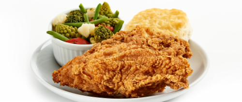 Fried Chicken Breast Meal (NOT AVAILABLE BEFORE 11:00 am DAILY) Perspective: front