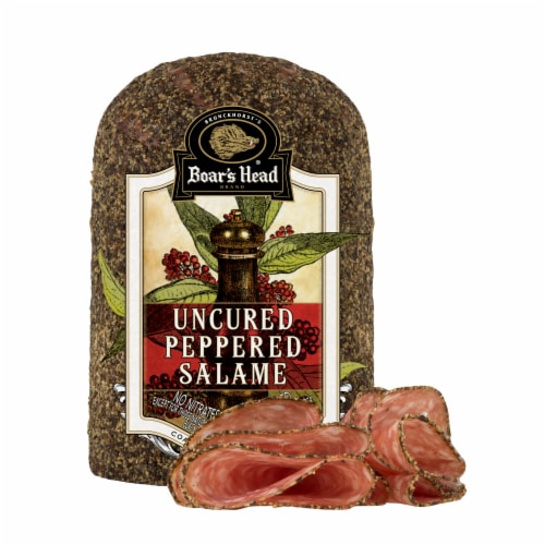 Boar's Head Peppered Salame Perspective: front