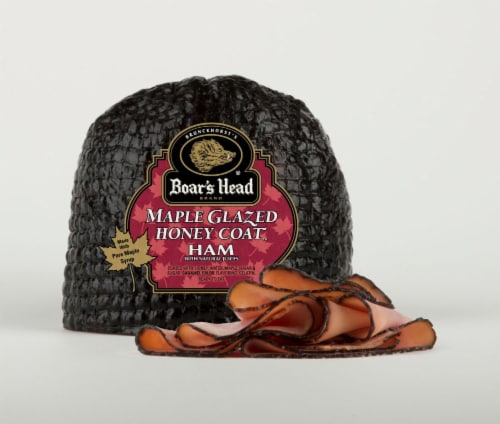 Boar's Head Maple Glazed Honey Coat Ham Perspective: front