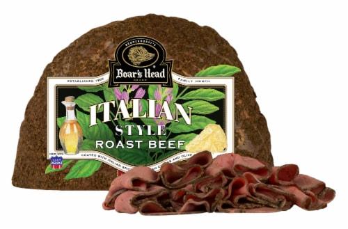 Boar's Head Italian Style Oven Roasted Seasoned Beef Perspective: front