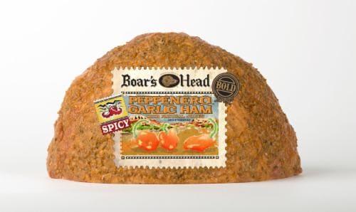 Boar's Head Peppenero Garlic Ham Perspective: front