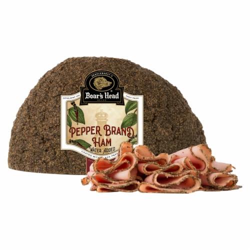 Boar's Head Gourmet Pepper Ham Perspective: front