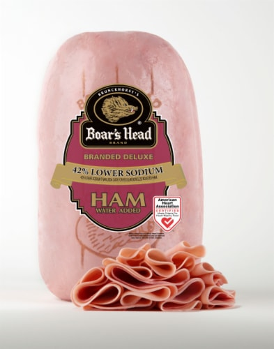 Boar's Head Branded Deluxe Low Sodium Ham Perspective: front
