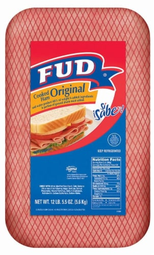 Fud Original Cooked Ham Perspective: front