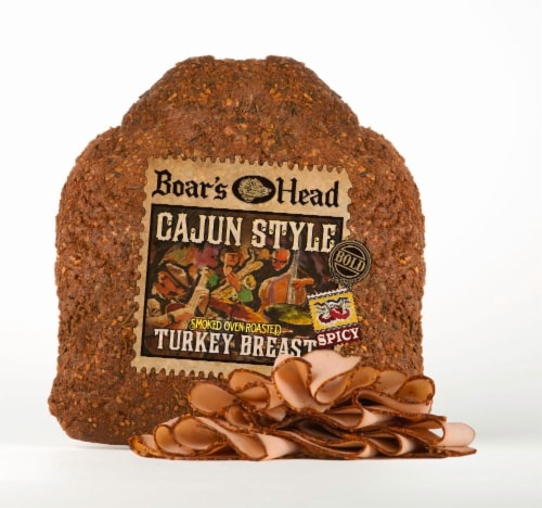 Boar's Head Spicy Cajun Style Smoked Oven Roasted Turkey Breast Perspective: front