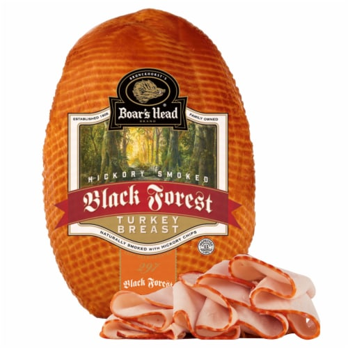 Boar's Head Hickory Smoked Black Forest Turkey Breast Perspective: front