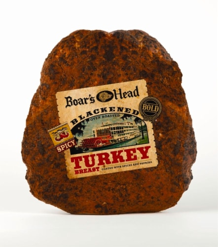 Boar's Head Blackened Oven Roasted Turkey Breast Perspective: front