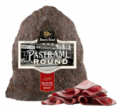 Boar's Head Cap-Off Top Round Pastrami Perspective: front