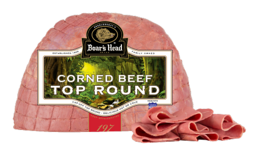 Boar's Head Cap-Off Cooked Top Round Corned Beef Perspective: front